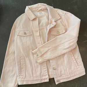 Pink ZARA denim jacket, sz 11-12